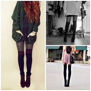 knee high socks final collage